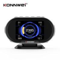 Lecteurs de code Scan Outils Konnwei KW206 In-Board Ordinateur Auto Trip Auto OBD2 Scanner de voiture Digital Speed Tomage Tension Température Affichage