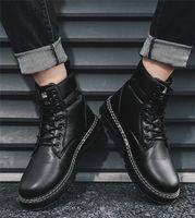 Retro British Tough Fashion Martin Boots Comfortable traspirante Suola antisosole Sole Attrezzatura Scarpe da esterno Scarpe da tendenza all'aperto taglia39-44
