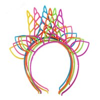 Baby Stirnband Mädchen DIY Einhorn Haar Zubehör Kind Kunststoff Headwear Hairband Kopfband für Party