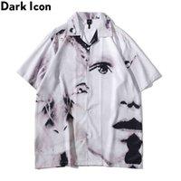 Icono oscuro Vintage Street Camisas de hombre de manga corta Material delgado Material de verano Camisa hawaiana Hombre Blusa Top masculino