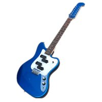 Özel 12 Dizeler Jagu Metal Mavi Elektro Gitar, HH Pickups, Basswood Vücut, Akçaağaç Klavye, Mavi Kafa, Ücretsiz Teslimat