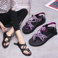 Sandals Buckle Back Strap Black White Women's Platform Shoes For Women 2021 Sandalias Sandles Woman Womens Slippers Summer