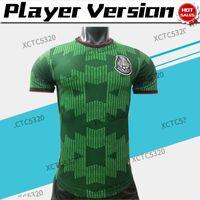 2022 플레이어 버전 멕시코 축구 유니폼 훈련 녹색 H.Lozano 치마 리토 성인 국가 팀 축구 셔츠 S-2XL