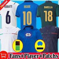 2021 2022 İtalya Final Futbol Formalar Bonucci Barella Insigne 20 21 22 Fanlar Oyuncu Versiyonu Chiellini Italia Verratti Maglie Da Calcio Erkekler Çocuk Çorap Futbol Gömlek