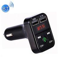 KIT B2 DUAL USB Carga Bluetooth FM Transmisor Reproductor de música MP3 Kit de automóvil Soporte de manos libres Llamada TF Tarjeta U DISH