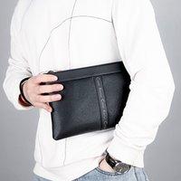 Layer Handbag Fashion Clutch Head Bag Leather Men's CateiKarrui Trendy Men's Envelope Folder Bag Cowhide Ultra-thin Xwrcv lianquan004