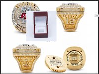 wholesale 2020-2021 Tampa Bay Buccanee Championship Ring TideHoliday gifts for friends With Wooden Display Box Souvenir Fan Men Gift Wholesale size 8-14