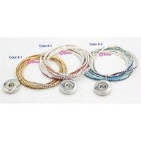 Luxusdesigner Schmuck Snap Glokus SS Schmuck, SS SS 3 Ankunft Farben Kristallelastische Armbänder mit austauschbarem 18mm Knopf CH