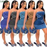 النساء اللباس مصمم ضئيلة مثير قبالة الكتف الصيف المواقع الرقمية محترقة خارج البرازيلي أكمام الدينيم فساتين Tobe أعلى قطعة واحدة اللباس S-XXL
