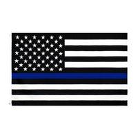 3x5ft 90cmx150cm Law Forment Officers Stati Uniti American Police Sottile linea Blag Bandiera Blueline USA Bandiere della polizia CYZ3095