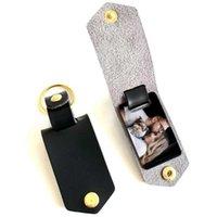 DIY Creative Art Сублимационные передача фото наклейки ключ цепь женские кожаные алюминиевые сплава автомобиль кулон подарок
