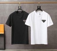 망 디자이너 여름 T 셔츠 삼각형 금속 패턴 캐주얼 패션 2021 티셔츠 소년 HipHop Streetwear 탑 EUR 크기