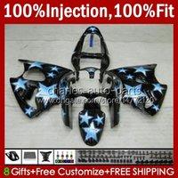 Stampo ad iniezione Bodys per Kawasaki Ninja 600CC ZZR600 05 06 07 08 Bodywork 38HC.30 100% Fit ZZR-600 600 cc 05-08 ZZR 600 2005 2006 2007 2008 Blue Stars OEM carents kit fabbrica