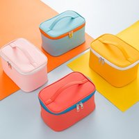 Storage Boxes & Bins Portable Women's Cosmetic Bag Make Up Organizer Travel Necessaries Zipper Makeup Case Pouch Toiletry Kit Bags