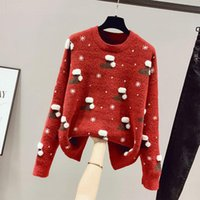 Women's Sweaters Fall   Winter 2021 Sweater Loose Wear Thick High Neck Soft And Warm Christmas Versatile Coat