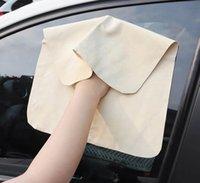 Gąbka samochodowa Chamois Skóra Cleaning Clears Oryginalna myjnia zamszowa Chłonna Szybki Suchy Ręcznik Smegreak Wolny LINT