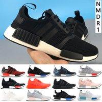 Con scatola NMD _R1 Primeknit Runner 2019 scarpe da corsa S79162 S75234 nero grigio blu uomo donna scarpe economiche moda sneakers con scatola