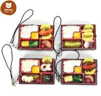 لطيف محاكاة السوشي مفتاح سلسلة كيرينغ وهمية اليابانية الغذاء مربع الحبل المفاتيح حقيبة يد قلادة الحبل حلقة مفتاح مضحك اللعب CW