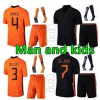 Memphis 2021 هولندا لكرة القدم قميص لاعب نسخة دي جونغ هولاند دي Ligt ستروتيمان فان dijk فيرجيل 2022 كرة القدم جيرسي الكبار الرجال + أطفال