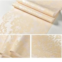 American Rustic Flower Floral Wallpaper Non-woven 3d Embossed Damask Rural Retro Living Room Contact Paper Red Beige Wallpapers