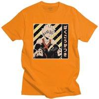 Magnífico mi héroe académico camiseta hombres de manga corta 100% algodón tshirt verano katsuki bakugou camiseta anime manga tee tops regalo Y0408