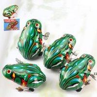 Descompressão Estanho Frog Clock Work Fidget Brinquedo Bebê Brinquedos No Chain Tins Rãs Classic Atacado HWB7829