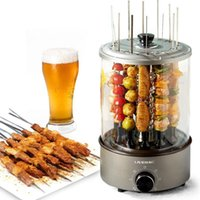 220v Electric BBQ Kebab Grill Machine Automatic Rotating Barbecue Smokeless Oven Rotisserie Roast Domestic Lamb Bread Makers