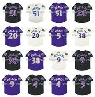 Vintage 2001 Arizona Jersey de béisbol 51 Randy Johnson 20 Luis González 9 Matt Williams 4 craig asesor 38 Curt Schilling 5 Tony womack crema negro negro jersey