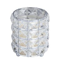 Europa Crystal Tealight Vela Tenedores de velas Mesa de boda Centros de mesa Comedor Navidad Casa decorativa linterna CST023
