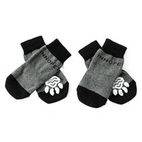 Dog Apparel Non-slip Socks Knitted Pet Puppy Shoes Print Protection Supplies LX9C