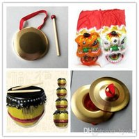 Foshan traditional handmade arts and crafts lion head drum cymbal gong children Special gift birthday present Halloween dance lion props 005