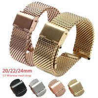 Watch Bands Milanese Mesh Strap Band For Samsung 3 45mm Active2 S3 1.0Mesh Stainless Steel Bracelet HUAWEI GT 2 Pro