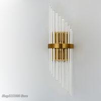 LED Kristal Altın Duvar Lambası Amerikan Ülke Duvar Dekor Işık Lüks Villa Otel Çalışma Koridor Koridor Oturma Odası Işık Armatürleri Bedroom Restoran