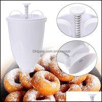 Baking Bakeware Kitchen, Dining Bar Home & Gardeking Mods Donut Mod Easy Fast Portable Maker Manual Waffle Dispenser Doughnut Hine Plastic L