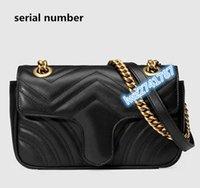 Высокое качество, сделанное в реальной кожаной кожаной муфте сумка сумка женщина сумка на плечо сумка серийный номер внутри
