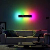 Moderno RGB LED Lámpara de pared Decoración para el hogar Luz de pared, Dormitorio Colorido Restaurante Sala de estar Comedor interior Lámparas de iluminación 210724