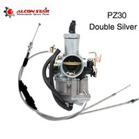 ALCONSTAR PZ30 30mm Karbüratör Çift Gaz Kelebeği Kablosu Ile Hızlandırıcı Pompa Yarışı 200cc 250cc Için Keihin Abm Irbisr 250 Motosiklet Yakıt Syste