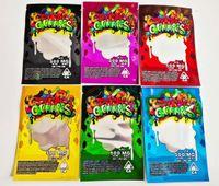 사용자 정의 Dank Gummies Mylar 가방 포장 500mg 총 710 식당 패키지 빨간색 녹색 파란색 보라색 색상 Trrlli Trolli errlli