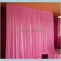 Other Festive & Party Supplies Home Garden 3M*3M Backdrop For Any Color Curtain Festival Celebration Wedding Stage Performance Backgro