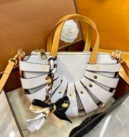 حقيبة يد نسائية مصمم إلكتروني الطباعة الأزياء المنسوجة الأكياس الاتجاه حقيبة الكتف قطري عالية الجودة مطابقة الحرير وشاح الحرير WF2104131