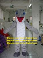 Fancy Gray Dolphin Delphinids Sea Hog Porpoise Dophins Mascot Costume Delphinus Delphis Whale Cetacean Mascotte Costumes Big Mouth No.4917