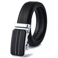 Belts Fashion Automatic Buckle Genuine Leather Luxury Designer Belt Brand Jeans High Quality Goth Waist For Men Black 130cm Long