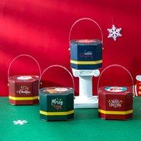 Enroulez la boîte de papier portable Santa Claus Candy Boxes Christmas Cadeau Cadeau Cadeau Decoration Créativité Sac fourre-tout Excquisite Style Owf9009
