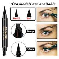 Eye-liner Sceau Tampon Liquide Stylo Double tête longue durée durable Fast Sèche Sèche Crayon Crayon avec cosmétique