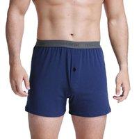 Cuecas cueca dos homens de algodão boxer verão calças grandes tamanho grande mais gordura aumento de cor sólida meados cintura aro pijama
