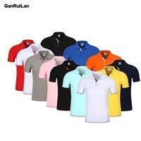 Bordado de manga longa de algodão respirável polo grupo personalizado bordado homens manga longa manga polo camisa b0883 210518