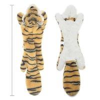 Nuovi giocattoli di peluche carino squeak pet lupo coniglio animale peluche giocattolo cane masticare cicatrizzante fischio coinvolto scoiattolo giocattoli di cane 585 s2