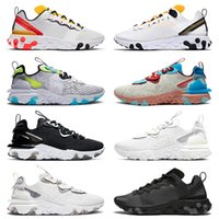 React Vision Newest Quality EPIC Element 55 Running Shoes Mens Womens Tour Yellow University Gold Worldwid Pack White Iridescent Triple Black Trainers Sneakers