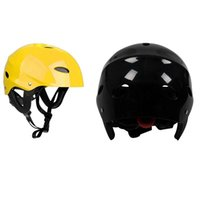 Pool & Accessories 2 Pcs Safety Protector Helmet 11 Breathing Holes For Water Sports Kayak Canoe Surf Paddleboard, Black Yellow