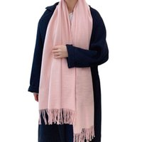 Hats, Scarves & Gloves Sets Winter Warm Tassels Scarf For Women Casual Soft All-Matching Long Solid Large Size Shawl